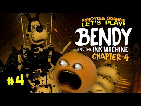 Bendy Ch. 4 - FINALE: Boss Battle BORIS! [Annoying Orange Plays]