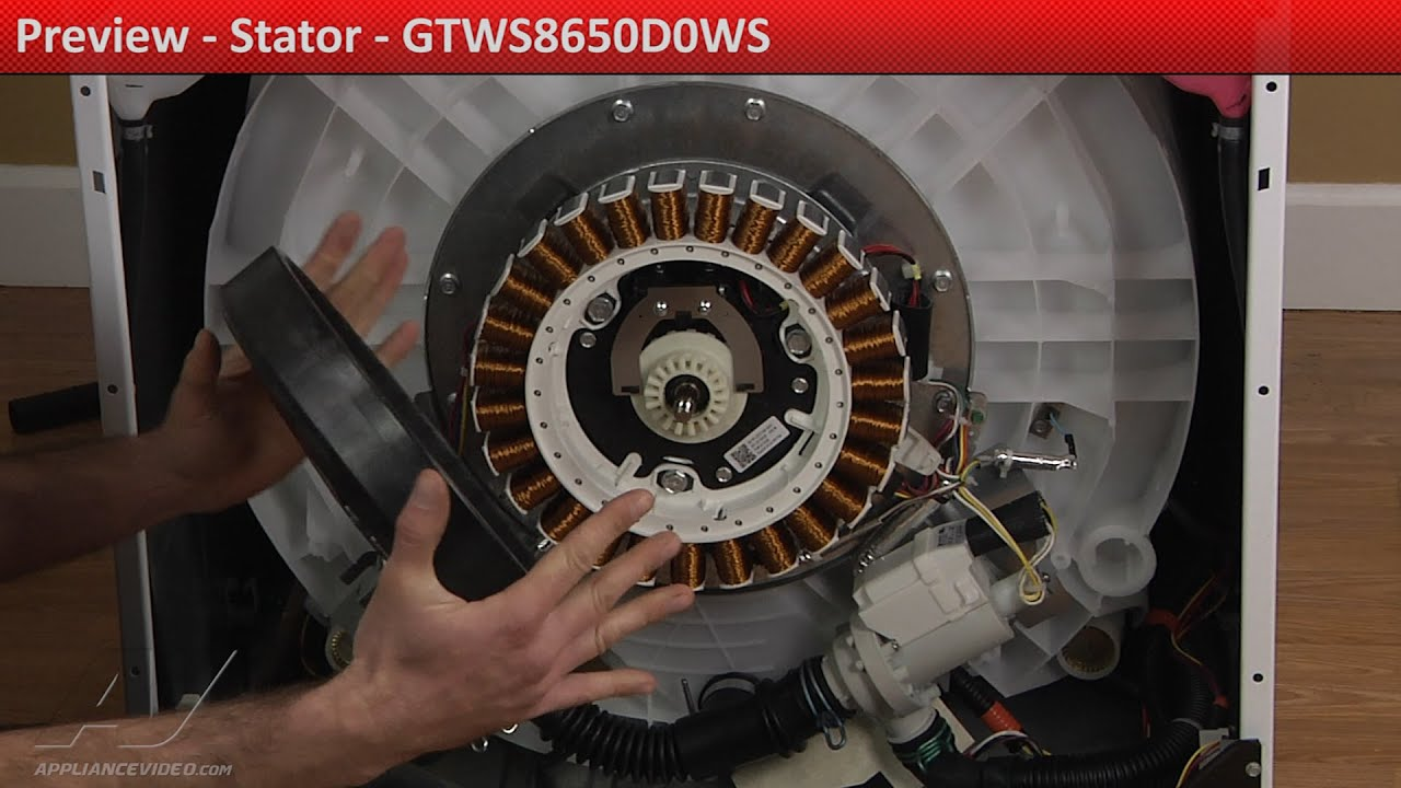 Stator -- GTWS8650D0WS GE Washer -- Preview