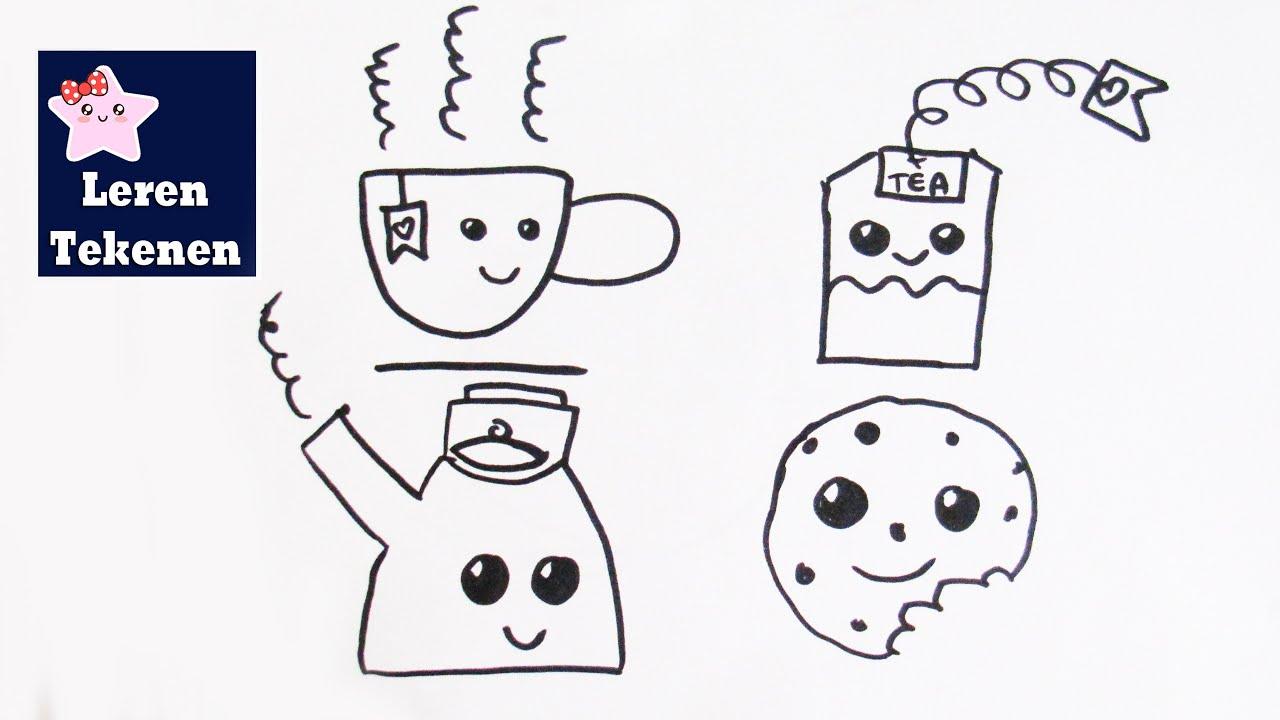 Hoe teken je een theeset beginners tekenen les youtube - Hoe een kleine woonkamer te voorzien ...