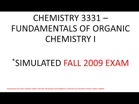 Organic Chemistry 1 (CHEM 3331) – EXAM 1 FALL 2009 SIMULATED