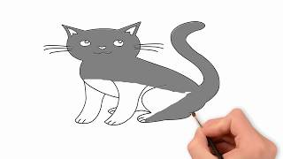 How to draw cats ,Easy Step by Step drawing tutorial for kids