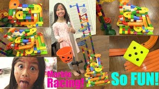Mega Bloks Marble Racing with Hulyan and Maya! Free Race Marble Racing Playtime Race #57