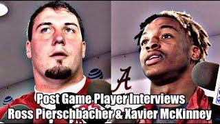 Alabama Crimson Tide Football: Ross Pierschbacher and Xavier McKinney talk after ULL