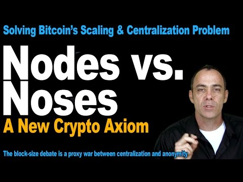 Bitcoin Nodes And Noses - A New Crypto Axiom For Bitcoin's Scaling & Centralization Problem