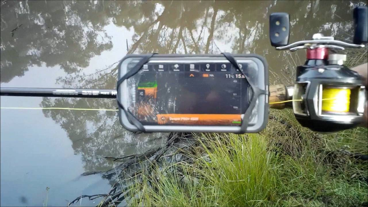 using my deeper pro + fish finder to sound out jordans hole - youtube, Fish Finder