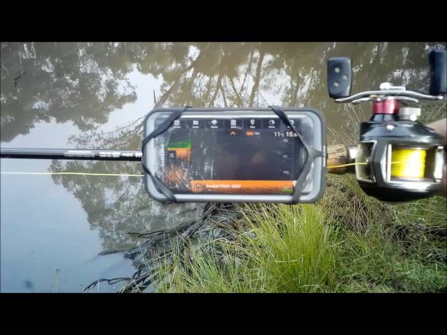 kayak trailer - using my deeper pro + fish finder to sound out, Fish Finder