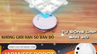 Bảo vệ sức khoẻ từ Robot hút bụi lau nhà thông minh Tahawa Nhật Bản