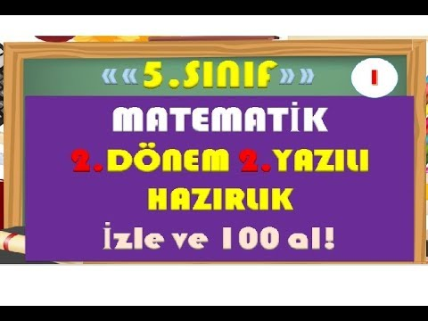 5.Sınıf Matematik 2.Dönem 2.Yazılı Hazırlık 1-Yardımcı Öğretmen