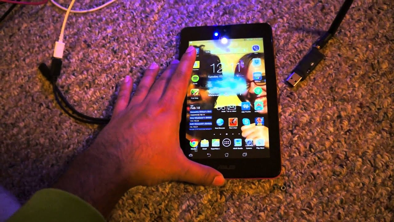 Asus memo pad 7 ME173X usb host OTG with Mission planner