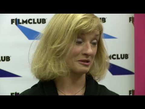 Jane Horrocks at Plumstead Manor School with FILMCLUB