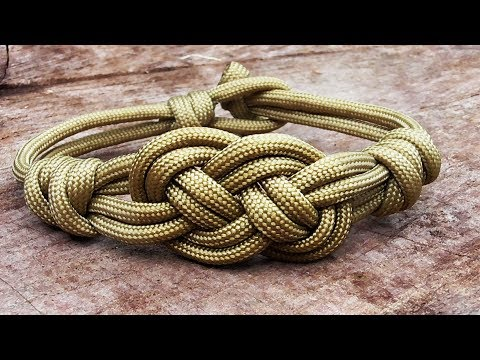 How You Can Make Carrick Bend Celet With Parachute Cord