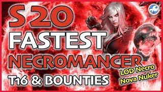 Diablo 3 Season 20 Best Necromancer Bounty & T16 Build LOD Necro Nova Nuker (Patch 2.6.8)