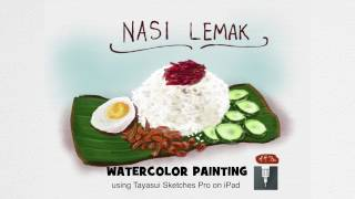 Everyday a Painting #4 (Nasi Lemak)