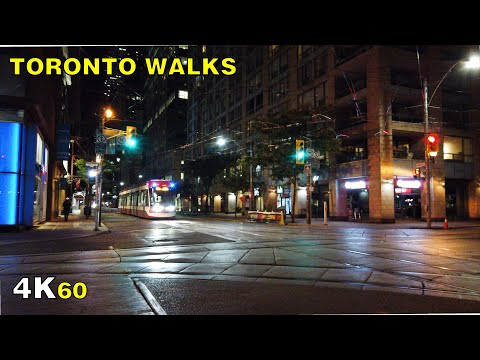 Church Street Late Night Walk in Downtown Toronto on Oct 5, 2020 [4K ASMR]