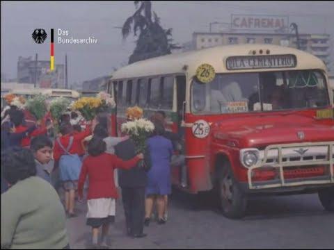 Santiago, Chile - año 1964 - Visita del presidente alemán Heinrich Lubke - HD