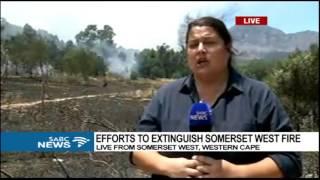 UPDATE: Efforts to extinguish Somerset West fire