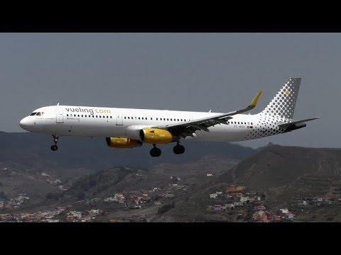 Vueling Airbus A321 Sharklets EC-MHB Landing at Tenerife North Airport  (TFN/GCXO)