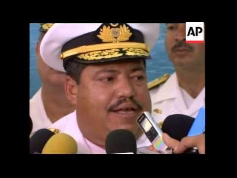 WRAP Russian warships arrive for joint exercises; Venezuelan commander