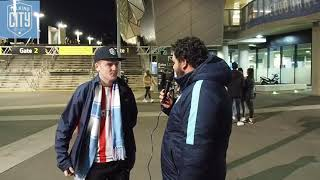 Fan interviews Melbourne City v Newcastle Jets round 6