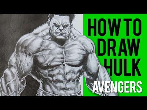 How To Draw Hulk Avengers Shading 1 Long Version Youtube