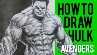 How to Draw Hulk - Avengers - Shading 1 | Long Version