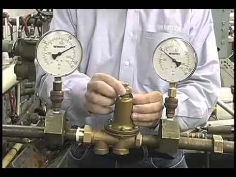 how to adjust a water pressure reducing valve youtube. Black Bedroom Furniture Sets. Home Design Ideas