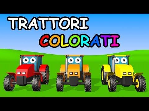 Impara i colori con i trattori colorati - AlexKidsTV