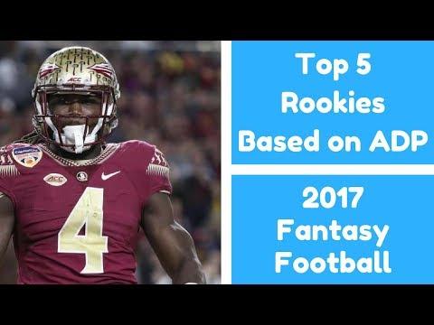 Top 5 Rookies Based on Value (ADP) | 2017 Fantasy Football