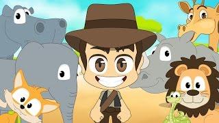 Wild Animals in French for Kids - الحيوانات للأطفال - حيوانات الغابة باللغة الفرنسية للاطفال