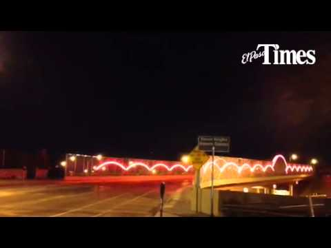 New lights on Prospect Str. bridge over I-10 in Downtown El Paso part of beautification project. & New lights on Prospect Str. bridge over I-10 in Downtown El Paso ...