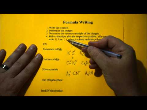 Chemical Formula Writing Simplified