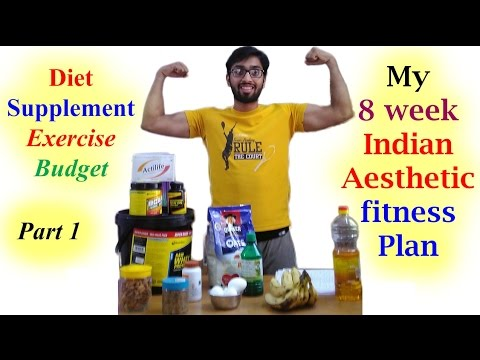 8 week Indian Aesthetic fitness plan, Diet, supplements, Budget