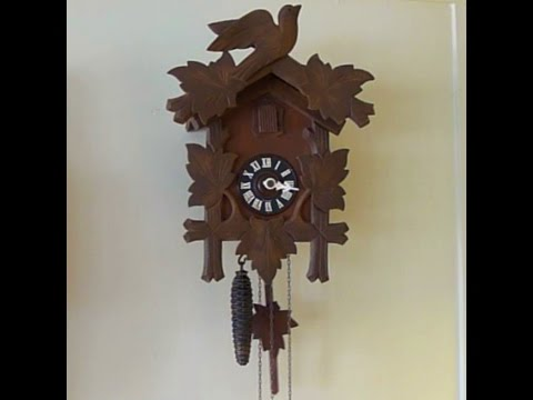 Antique cuckoo clock repair