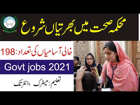 Health Department Jobs 2021 for Lady Health Visitors LHV ( Post 198 ) female apply simple