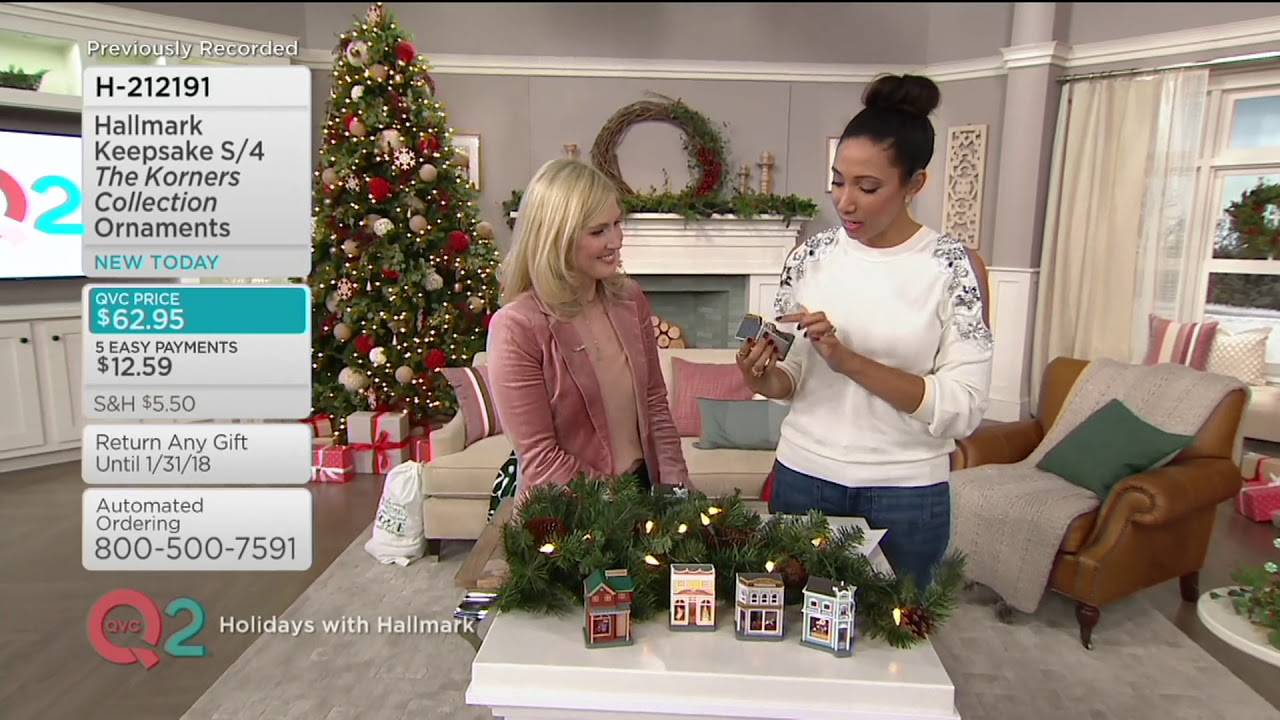 hallmark keepsake s4 the korners collection ornaments on qvc