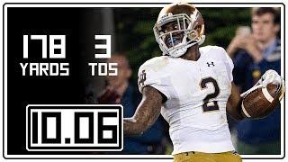 Dexter Williams Full Highlights Notre Dame vs Virginia Tech || 10.06.18 || 178 Yards, 3 TDs