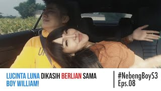Lucinta Luna DIKASIH BERLIAN sama Boy William! #Nebengboy S3 Eps. 8