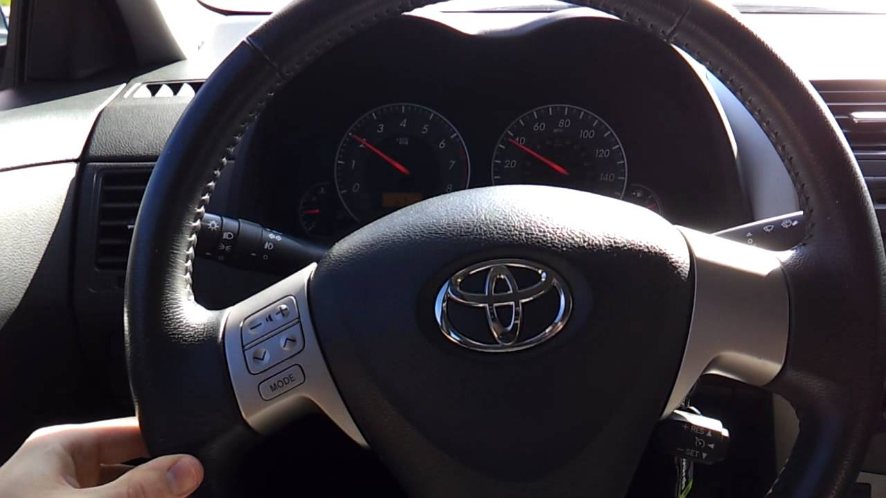 2010 toyota corolla s steering wheel off center to left. Black Bedroom Furniture Sets. Home Design Ideas