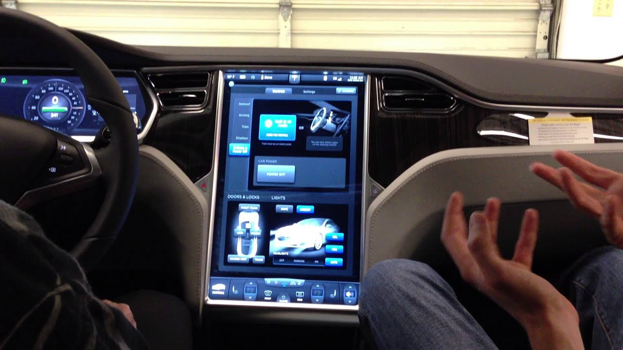 Tesla Delivery 05 Center Console Display 1 YouTube