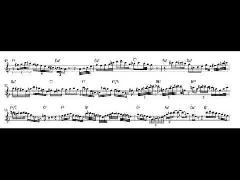John Coltrane Good Bait Solo Transcription