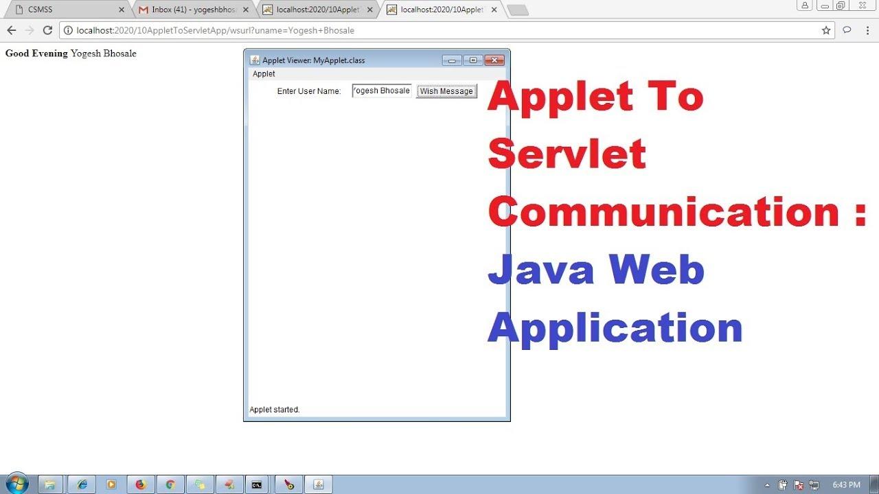 34 advanced java servlet tutorial applet to servlet 34 advanced java servlet tutorial applet to servlet communication java web application adv java baditri Gallery
