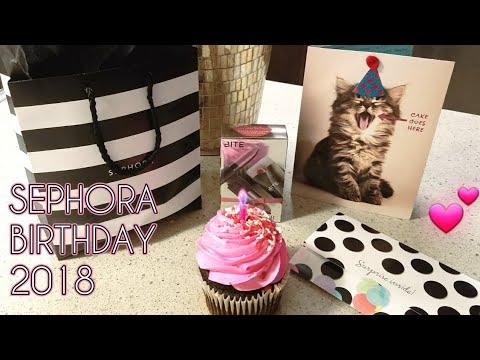 SEPHORA BIRTHDAY GIFTS 2018 | UNBOXING
