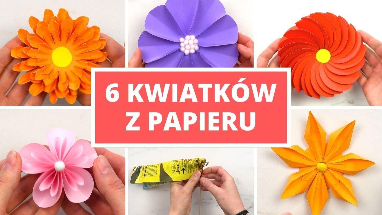 6 Ozdobnych Kwiatkow Ktore Zrobisz Z Papieru Youtube