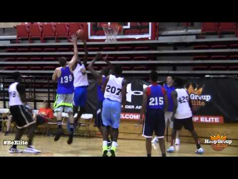Antonio Moore Dunks On Defender at Hoop Group Elite Session III