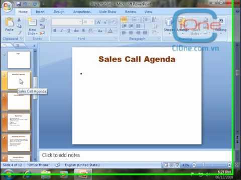 Chương 1  Các cách tạo slide trong phần mềm Power Point   CiOne