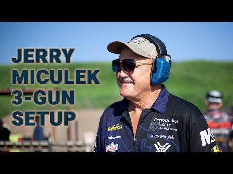 Jerry Miculek Shows Off His 3-Gun Setup