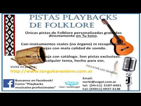 "FOLKLORE KARAOKE- ""Chacarera del milagro"" ( Coco Díaz- M. Eugenia díaz)"