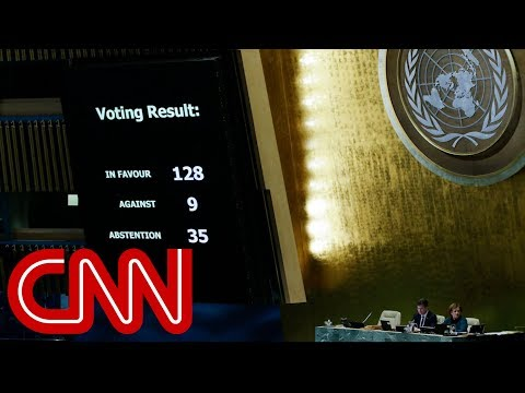 UN votes to condemn Trump's Jerusalem decision