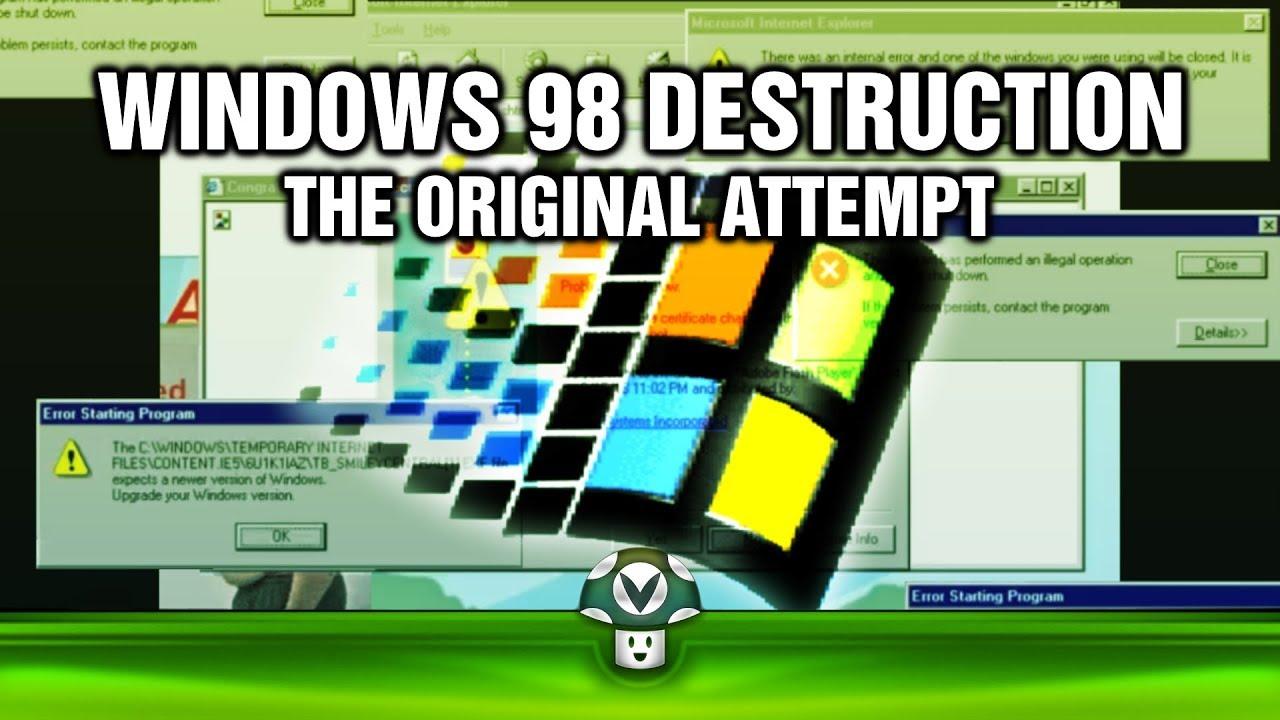windows 98 on nes destruction