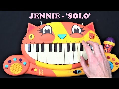 BLACKPINK (JENNIE) - SOLO BUT IT'S PLAYED ON A BALLOON, A DOG AND A CAT PIANO